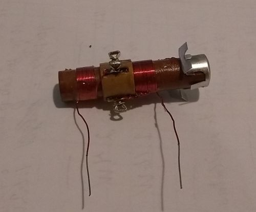 Image: An old school 10-15 mH inductor, but I'll check to be sure...