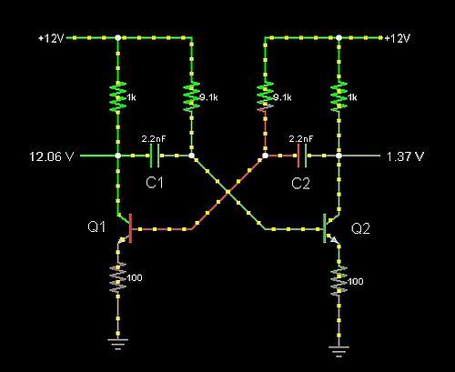 Image: The tank driver circuit on the Java app CircuitMod...