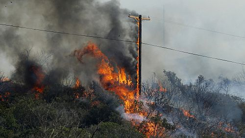Image - The Cocos Fire burns in San Marcos, California, in 2014. Mike Blake / Reuters