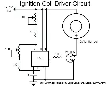 Image: Diagram found on Instructables page Super Simple Ignition Coil Drivers...